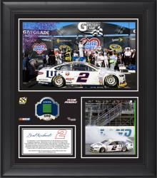 Brad Keselowski Fanatics Authentic 2014 NCSC Race at Chicagoland Speedway Race Winner Framed 15'' x 17'' Collage with Race-Used Tire-Limited Edition of 500