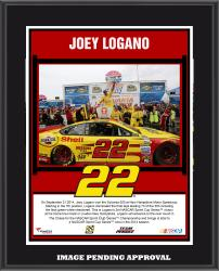 Joey Logano 2014 Sylvania 300 at New Hampshire Motor Speedway Race Winner Sublimated 10.5'' x 13'' Plaque