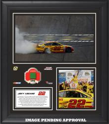 Joey Logano 2014 Sylvania 300 at New Hampshire Motor Speedway Race Winner Framed 15'' x 17'' Collage With Race-Used Flag-Limited Edition of 500