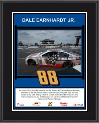Dale Earnhardt Jr. 2014 Pocono 400 at Pocono Raceway Race Winner Sublimated 10.5'' x 13'' Plaque - Mounted Memories