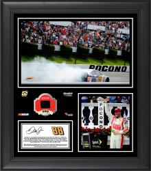 Dale Earnhardt Jr. 2014 Pocono 400 at Pocono Raceway Race Winner Framed 15'' x 17'' Collage With Piece of Race-Used Tire-Limited Edition of 250 - Mounted Memories