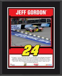 "Jeff Gordon 2014 Pure Michigan At Michigan International Speedway Race Winner Sublimated 10.5"" x 13"" Plaque"