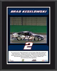 "Brad Keselowski 2014 Quaker State 400 at Kentucky Speedway Race Winner Sublimated 10.5"" x 13"" Plaque"