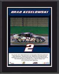 "Brad Keselowski 2014 Quaker State 400 at Kentucky Speedway Race Winner Sublimated 10.5"" x 13"" Plaque"