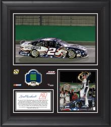 """Brad Keselowski 2014 Quaker State 400 at Kentucky Speedway Race Winner Framed 15"""" x 17"""" Collage With Race-Used Tire-Limited Edition of 500"""