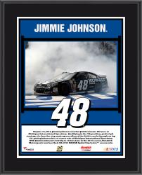 Jimmie Johnson 2014 Quicken Loans 400 at Michigan International Speedway Race Winner Sublimated 10.5'' x 13'' Plaque - Mounted Memories