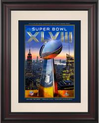 "2014 Seattle Seahawks vs. Denver Broncos 10.5"" x 14"" Framed Super Bowl XLVIII Program"