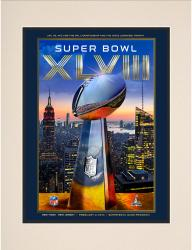 "2014 Seattle Seahawks vs. Denver Broncos 10.5"" x 14"" Matted Super Bowl XLVIII Program"