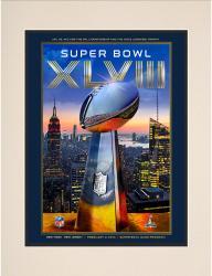 "2014 Seattle Seahawks vs. Denver Broncos 10.5"" x 14"" Matted Super Bowl XLVIII Program"