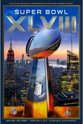 "2014 Seattle Seahawks vs. Denver Broncos 36"" x 48"" Canvas Super Bowl XLVIII Program"