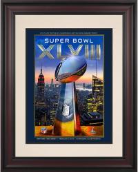 """2014 Seattle Seahawks vs. Denver Broncos 8.5"""" x 11"""" Framed Super Bowl XLVIII Program"""