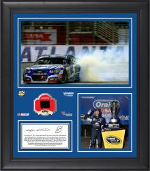 2014 Nascar Sprint Cup Night Racing Returns at Atlanta Motor Speedway Race Winner Framed 15'' x 17'' Collage With Race-Used Tire