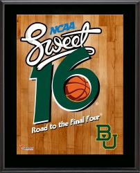 "Baylor Bears 2014 Sweet 16 Sublimated 10.5"" x 13"" Plaque"