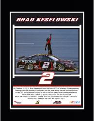 Brad Keselowski 2014 Talladega 500 at Talladega Superspeedway Race Winner Sublimated 10.5'' x 13'' Plaque
