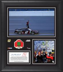 "Brad Keselowski 2014 GEICO 500 at Talladega Superspeedway Race Winner Framed 15""x17"" Collage With Green Flag - Limited Edition of 500"