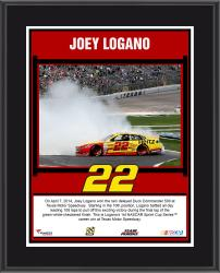 Joey Logano 2014 Duck Commander 500 at Texas Motor Speedway Race Winner Sublimated 10.5'' x 13'' Plaque - Mounted Memories