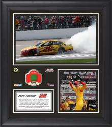 Joey Logano 2014 Duck Commander 500 at Texas Motor Speedway Race Winner Framed 15'' x 17'' Collage With Race-Used Flag-Limited Edition of 500 - Mounted Memories