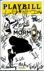 2014 The Book Of Mormon Cast Signed Playbill (23) Autographs