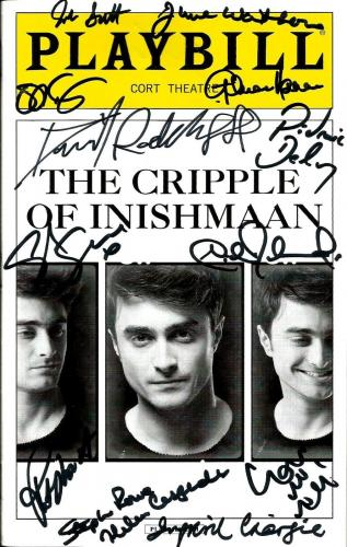 2014 The Cripple Of Inishmaan W/ Daniel Radcliffe Cast Signed Playbill (13) Auto