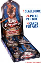 2014 Topps Chrome Baseball Factory Sealed Box  (24 Packs)