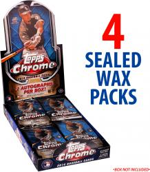 2014 Topps Chrome Baseball Sealed Packs (4 Packs)