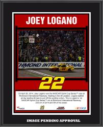 Joey Logano 2014 Toyota Owners 400 at Richmond International Raceway Race Winner Sublimated 10.5'' x 13'' Plaque - Mounted Memories