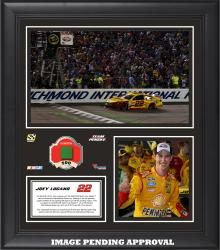Joey Logano 2014 Toyota Owners 400 at Richmond International Raceway Race Winner Framed 15'' x 17'' Collage With Race-Used Flag-Limited Edition of 250 - Mounted Memories
