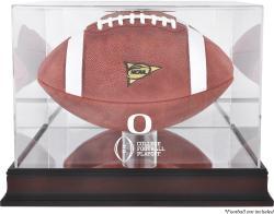 2015 College Football Playoff Oregon Ducks Team Logo Football Display Case