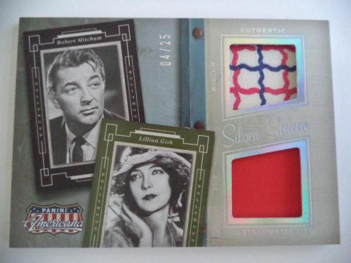 2015 Panini American Pie Robert Michum Lillian Gish Rare 04/25 Card Multi Relics