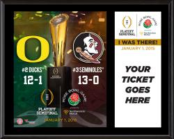 "2015 Rose Bowl Florida State (FSU) Seminoles vs. Oregon Ducks ""I Was There"" 12'' x 15'' Plaque"