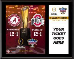 "2015 Sugar Bowl Alabama Crimson Tide vs. Ohio State Buckeyes ""I Was There"" 12'' x 15'' Plaque"
