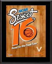 "Virginia Cavaliers 2014 Sweet 16 Sublimated 10.5"" x 13"" Plaque"