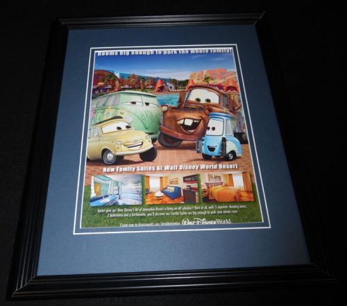 2015 Walt Disney World Cars Mater Framed 11x14 ORIGINAL Advertisement