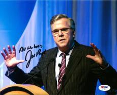 2016 Jeb Bush Presidential Hopeful Signed 8x10 Photo Auto PSA/DNA COA #1