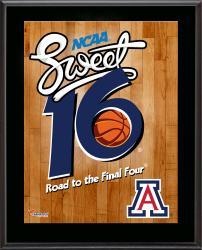 """Arizona Wildcats 2014 Sweet 16 Sublimated 10.5"""" x 13"""" Plaque"""