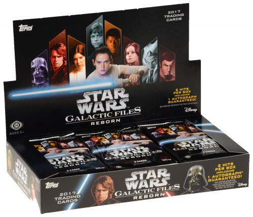 2017 Topps Star Wars Galactic Files Reborn Factory Sealed 24 Pack Box
