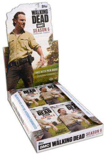 2017 Topps Walking Dead Season 6 Factory Sealed 24 Pack Box