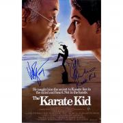 Ralph Macchio & Billy Zabka The Karate Kid Signed 11x17 Poster