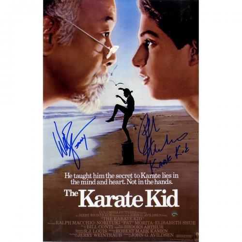 Ralph Macchio & Billy Zabka The Karate Kid Signed 11x17 Poster