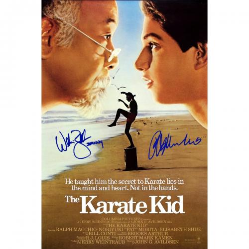 Ralph Macchio & Billy Zabka The Karate Kid Signed 24x36 Movie Poster
