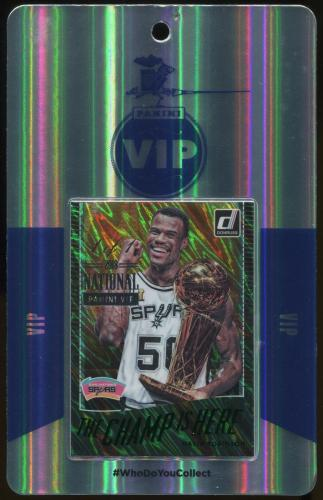 2018 Panini National VIP Party Event Badge David Robinson 1/1 Donruss