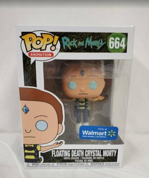 2019 Funko Pop Walmart Exclusive Frozen Death Crystal Morty 664 Rick and Morty