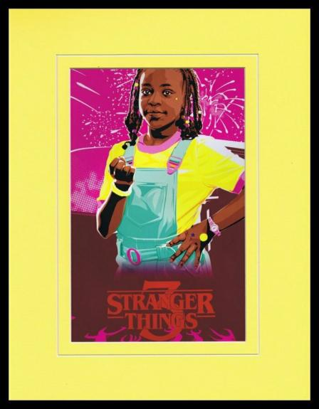 2019 Stranger Things 3 Erica Sinclair Priah Ferguson Framed 11x14 Poster Display