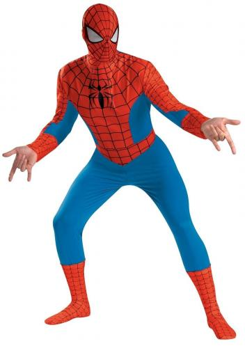 Stan Lee Signed Marvel Spiderman Full Adult Costume W/ Stan Lee Hologram