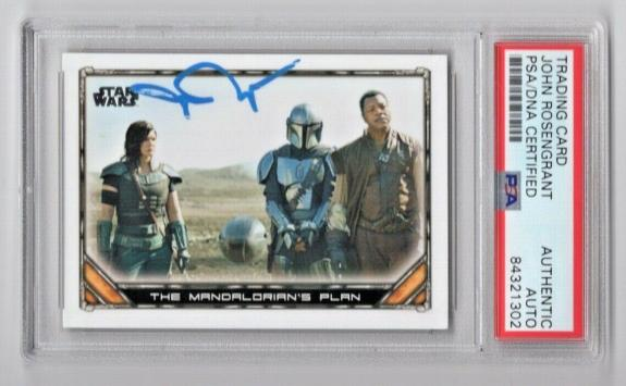 2020 Topps Star Wars The Mandalorian John Rosengrant Signed Auto Card 85 PSA/DNA