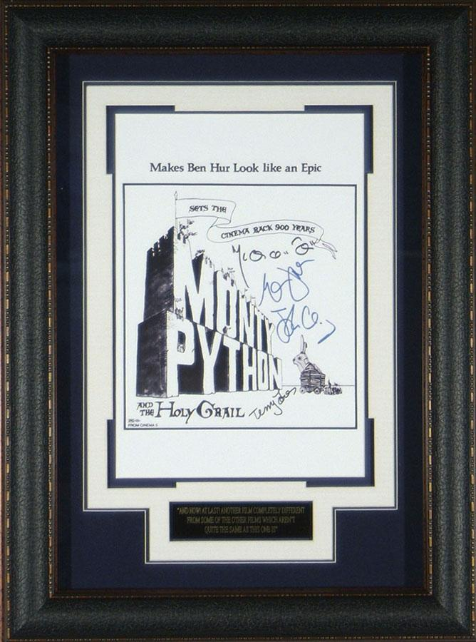 The Holy Grail - Cast Autographed 11x17 Framed Poster