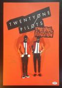 21 Twenty One Pilots Josh Dun Tyler Joseph Band Signed Poster PSA/DNA AUTHENTIC