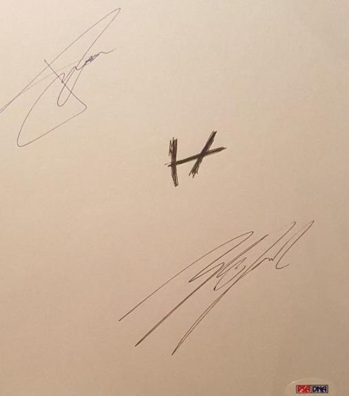 21 Twenty One Pilots Josh Dun Tyler Joseph Signed Paper PSA/DNA AUTHENTIC