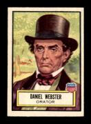 #22 Daniel Webster - 1952 Topps Look n See Non-Sports Cards (Star) Graded EXMT+