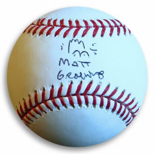 Matt Groening Signed Autographed Baseball The Simpsons Bart Sketch JSA Z37093